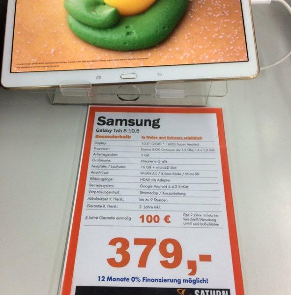 Samsung Galaxy Tab S 10.5 Wifi@ Saturn Zwickau [LOKAL]