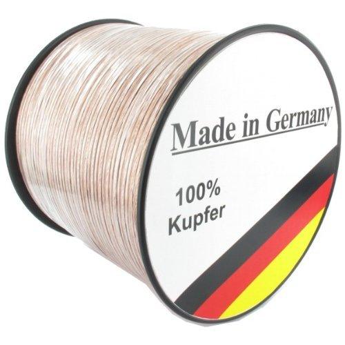 Lautsprecherkabel REINES Kupfer, Made in Germany, 50Meter @Amazon -> 31,86€ inkl. VSK (0,64cent/meter)