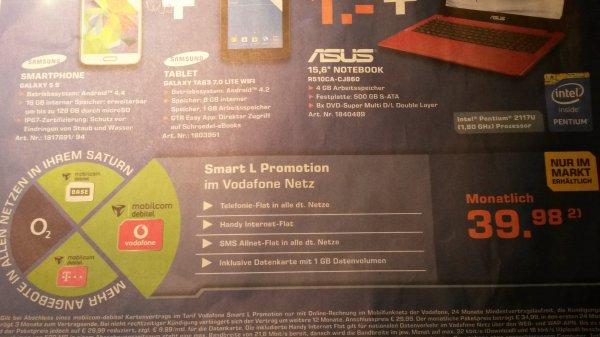 Köln lokal Saturn Samsung S5 + Samsung TAB3 7.0 Wifi + Asus 15' Notebook