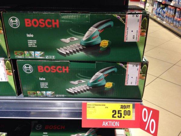 Bosch ISIO Akku-Gartenschere 25€ (idealo=42€+Vers.) [offline / lokal REWE Egelsbach]