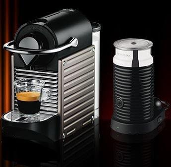 Lokal Siegburg: Krups Nespresso Maschine + Aerocino 3 (XN301T) - Effektiv 39,- €