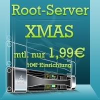 netcup Root-Server Xmas 2014 2,6 GHz, 1 GB RAM, 20 GB HDD, KVM