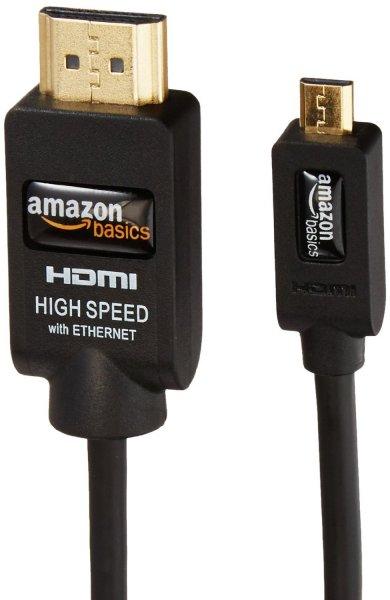 AmazonBasics HDMI-auf-Micro-HDMI-Hochgeschwindigkeitskabel für 5,59€