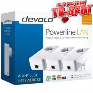 devolo dLAN 650+ Starter 3er Kit für 99€ @Redcoon.de