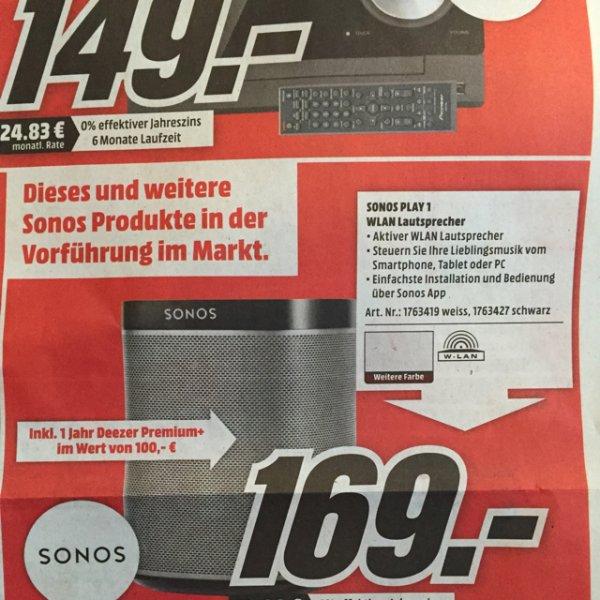 Lokal (Kassel) Sonos Play1 + 12 Monate Deezer