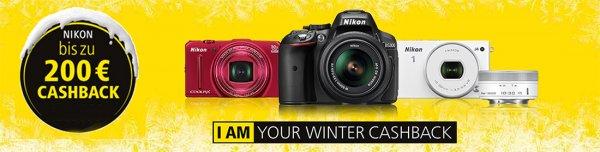 Nikon Cashback Aktion für Nikon Kameras & Objektive [bis zu 200 Euro]