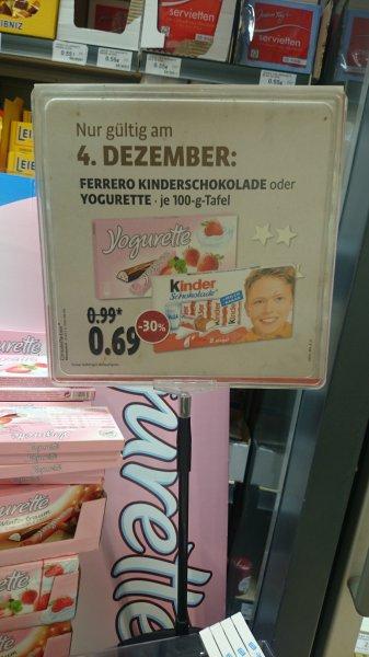 Kinderschokolade & Yogurette bei Kaisers -30% für 0,69 € statt 0,99 €