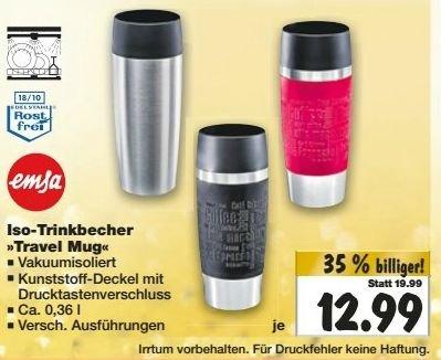 [KAUFLAND] KW50: Emsa Travel Mug für 12,99€