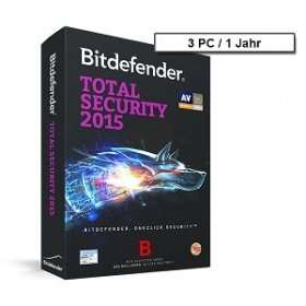 Bitdefender Total Security 2015 - 3 PC - 1 Jahr [Download-Artikel]