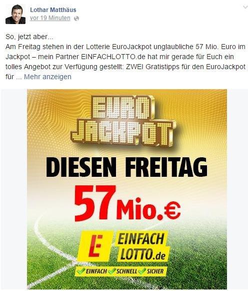 [NEUKUNDEN] EinfachLotto.de -  2 Felder Gratis Lotto spielen