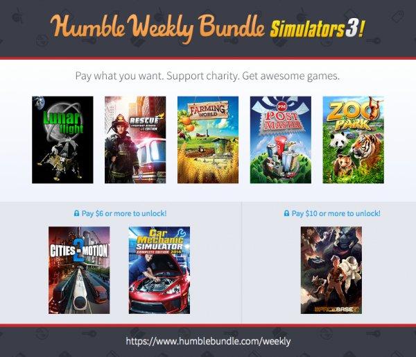 Humble Weekly Bundle Simulators 3