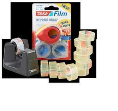 TESA Klebe-Artikel -  Mini-Abroller, inkl. 2 Rollen, Stück 1.99 - Tisch-Abroller, inkl. 1 Rolle oder 10er-Packung tesafilm, transparent, je Stück/Packung 2.49 - Penny
