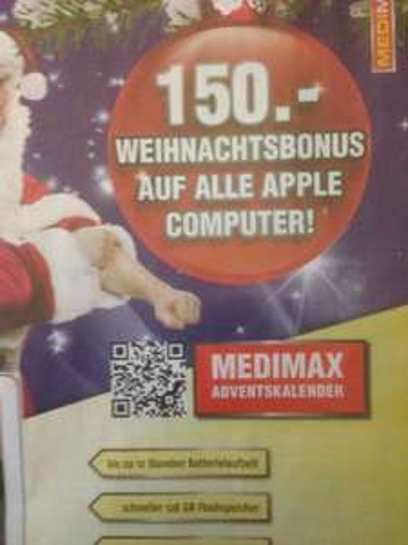 [Lokal - Berlin] Medimax - Apple Computer mit 150 EUR Sofortrabatt