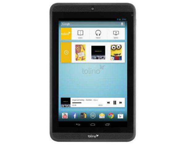 """Tolino Tab 7"""" - Android 4.2.2 Tablet mit HD-Display und WLAN @meinpaket.de für 79,-€ + 10,-€ MP Gutschein + Frühstücksbrettchen"""