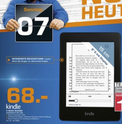 Nur am Sonntag in Berliner Saturn-Märkten: Kindle Paperwhite WiFi für 68.-