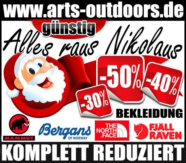 Nikolaus Rabattaktion auf www.arts-outdoors.de