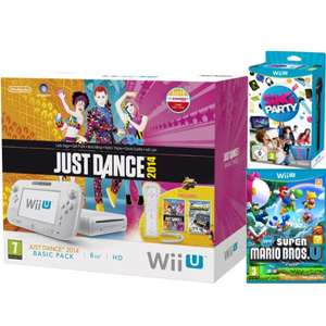 Wii U Just Dance 2014 + Nintendo Land + Super Mario Bros. U + SiNG Party Wii U mit Mikrofon bei THE HUT