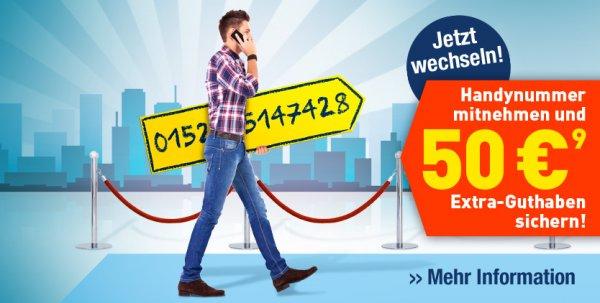 Edeka Mobil: 50€ bei Rufnummernmitnahme (+20€ zusätzlich möglich)