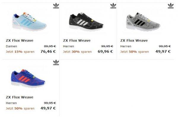 Adidas ZX Flux Weave -50% (nur noch 49,97€) bei 21Streetwear.com