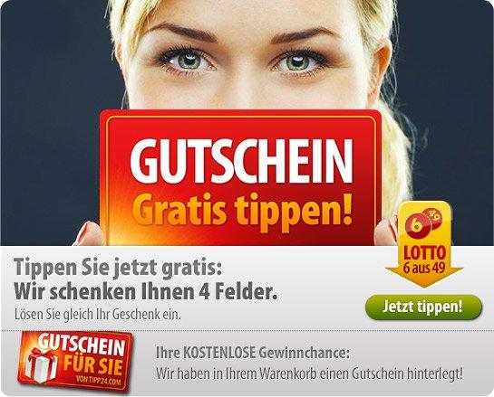 4 Lottofelder GRATIS bei Tipp24.com NUR für Bestandskunden