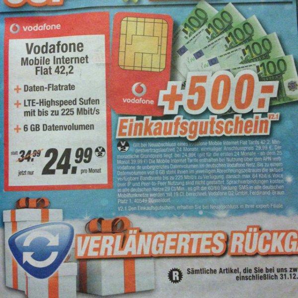 Vodafone 6GB LTE Flat bei Expert für 5,41 Euro (deutschlandweit?)