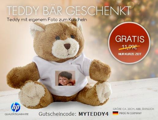 Teddybär mit eigenem Foto