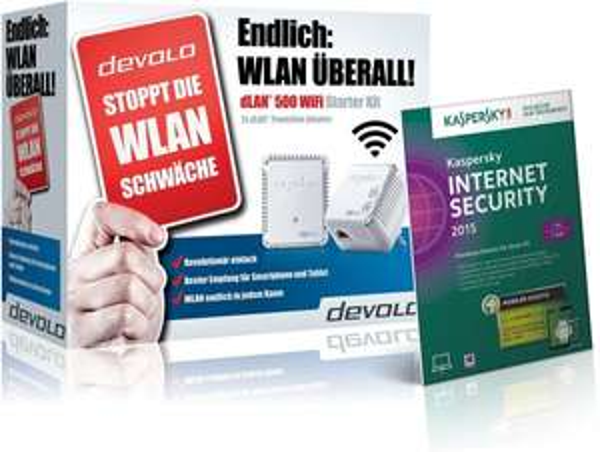devolo dLAN 500 Wifi Starter Kit inkl. Kaspersky Internet Security 2015 für 80€ @Amazon