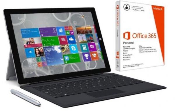 Microsoft Surface Pro 3 + TypeCover + Office Personal ab 949€ (128GB i5)+ Nokia Lumia 530 GRATIS mit Gutscheincode