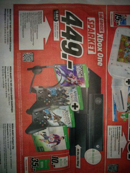 (lokal Sindelfingen MM) Xbox One + Kinect + 2. Controller + Headset+ Fifa 15 + AC Unity + Ac Blackflag + Dance Central