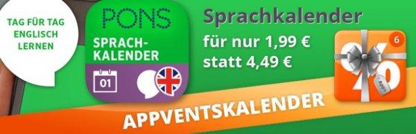 PONS Sprachkalender: Halbjahres Paket für 1,99€ bei appdeals