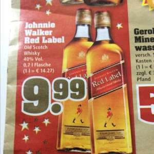 9,99€ Johnnie Walker Red Label 0,7 l [TrinkGut] ab 08.12