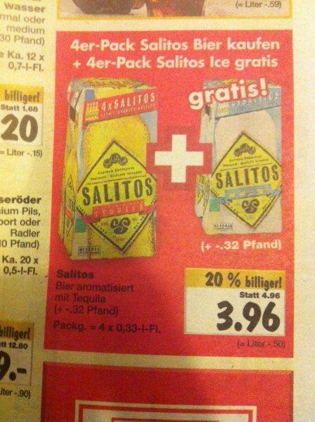 [Kaufland Ost] 4er Pack Salitos Bier kaufen + 4er Pack Salitos Ice gratis  ab 08.12.