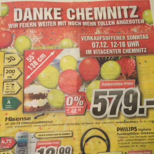 [lokal Chemnitz] Hisense 3D LED-TV LTDN55K390XWSEU3D