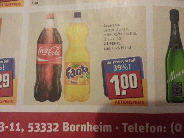 (Lokal Bornheim) versch. Coca-Cola Sorten für 50 Cent/1 Liter