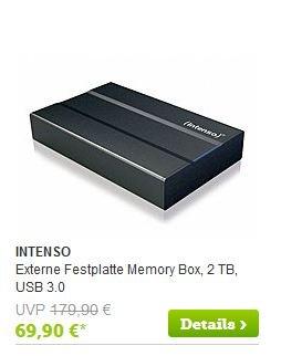 """BRANDS4FRIENDS""  INTENSO 2 TB 3.5 ext. FESTPLATTE USB 3.0 für 56,80 EURO"