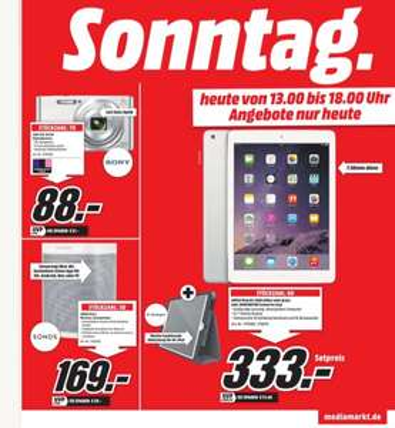 iPad Air 16GB WiFi [lokal Aachen] inkl. Kensington Hülle 333,-
