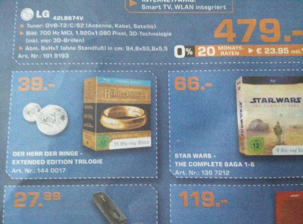 Herr der Ringe Extended Trilogie BD für 39 Euro - womöglich nur vereinzelt nach Region