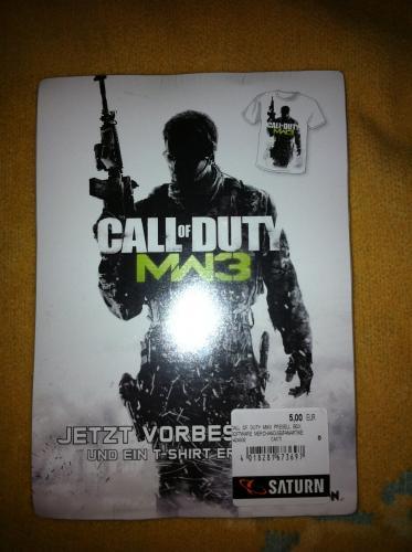 Call of Duty MW 3 T-shirt (Lokal @Hamburg Mönckeberg) für 5 EUR