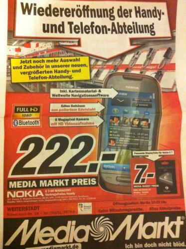 Lokal Media Markt Weiterstadt Nokia C 7-00