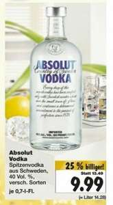 "Vodka ""ABSOLUT"" bei Kaufland in Worms(lokal)"