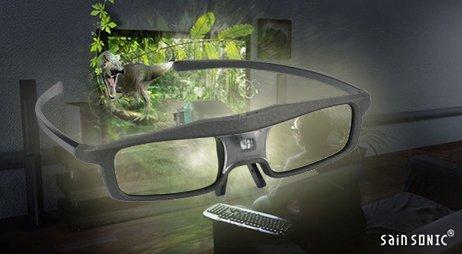 2x 3D Brille SainSonic 144Hz Aufladbar für DLP-Link Beamer (Acer, BenQ, Optoma, etc.)
