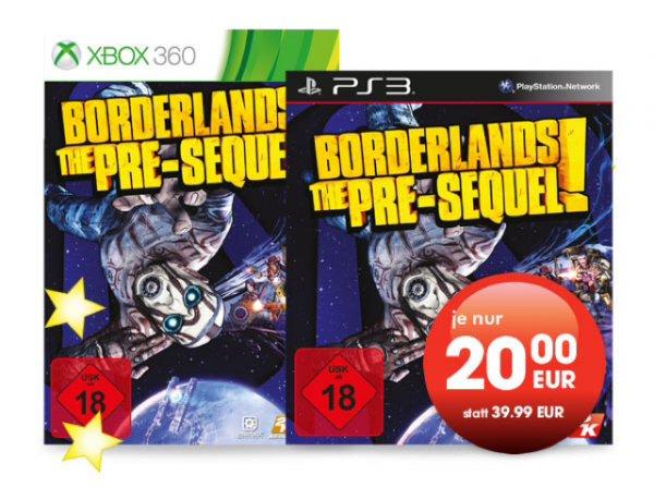 Borderlands The Pre-Sequel XBox 360 und PS3 für 20€ lokal in allen GameStop Filialen