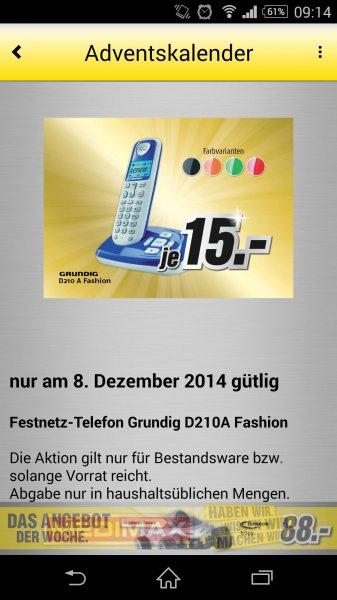 MediMax Gera Festnetztelefon Grundig D210A Fashion für 15,- Euro