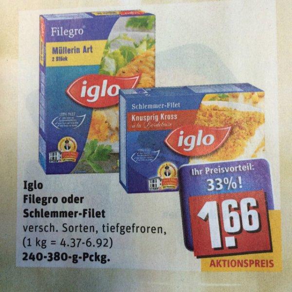 (Rewe City) Iglo Filegro und Schlemmer-Filet