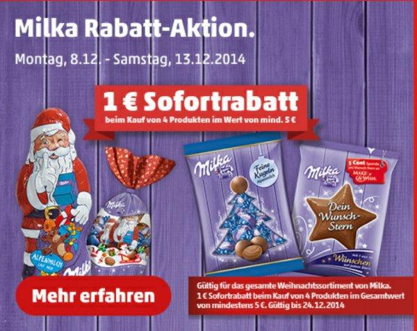 [Penny] 1€ Sofortrabatt auf das Milka Weihnachtssortiment