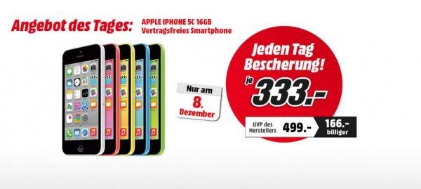 Iphone 5C 16GB für 333€ bei Abholung im Österreichischen Mediamarkt  (Idealo 399€)