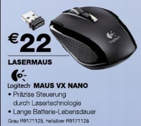 Staples: Logitech VX Nano für 22€