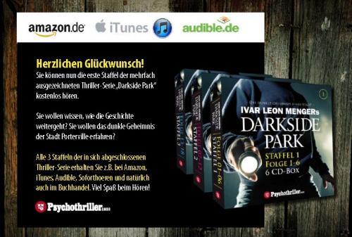Hörbuch Psychothriller Darkside Park Staffel 1 (CD's 1 - 6) kostenfrei