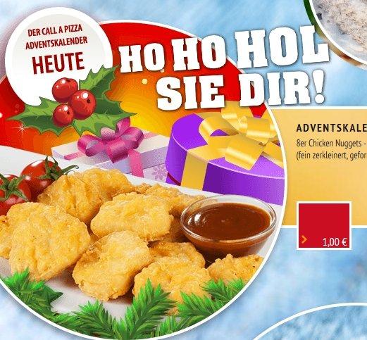 Call a Pizza Advenstürchen: 8er Chicken Nuggets 1€ (anstelle 4,90€)