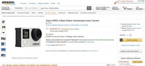 GoPro Hero 4 Black für 391 € statt UVP 479 €